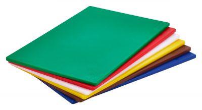 "Red Poly Cutting Board 18 x 12 x 0.5"""