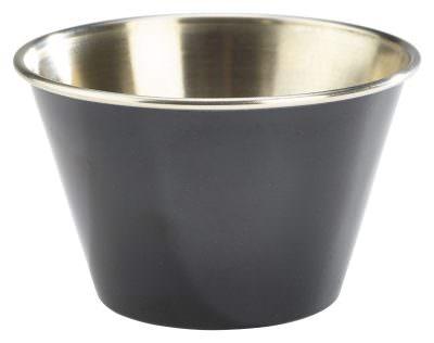 6oz Stainless Steel Ramekin Black