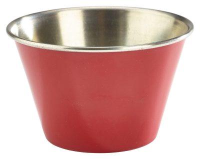 6oz Stainless Steel Ramekin Red