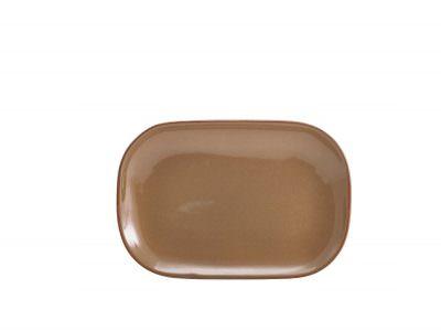 Terra Stoneware Rustic Brown Rectangular Plate 24 x 16.5cm
