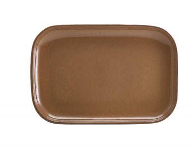 Terra Stoneware Rustic Brown Rectangular Plate 34.5 x 23.5cm
