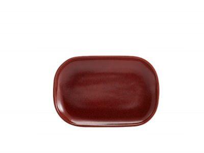 Terra Stoneware Rustic Red Rectangular Plate 24 x 16.5cm