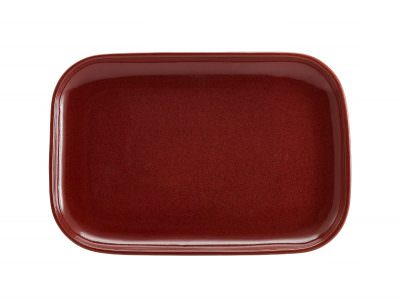 Terra Stoneware Rustic Red Rectangular Plate 34.5 x 23.5cm