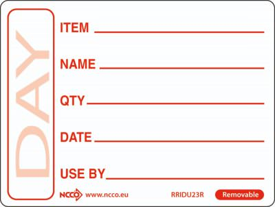 50 X 65mm Removable Red Use By Label (500)
