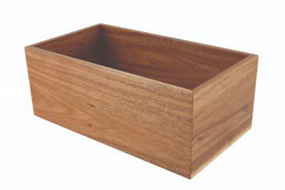 Genware Acacia Wood Riser/Box 32.5X18X12.3cm