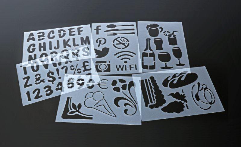 Set Of 6 Stencils