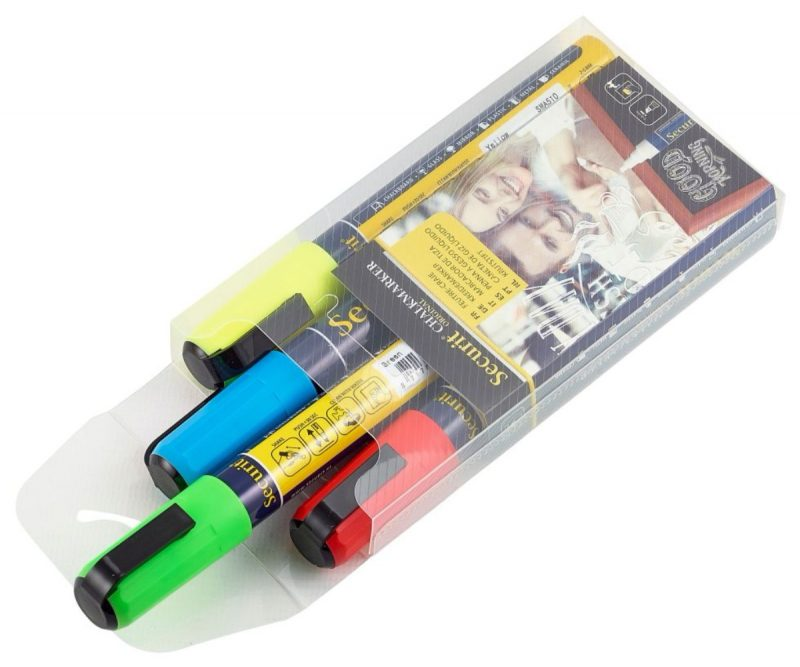 Chalkmarkers 4 Colour Pack (R,G,Y,BL) Medium