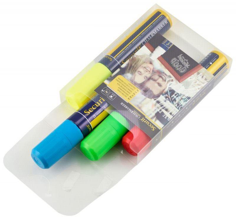 Chalkmarkers 4 Colour Pack (R,G,Y,BL) Large