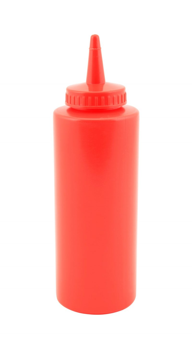 Genware Squeeze Bottle Red 12oz/35cl