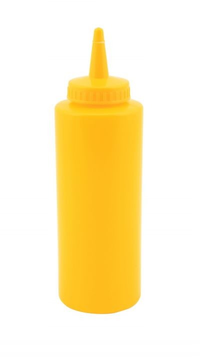 Genware Squeeze Bottle Yellow 12oz/35cl