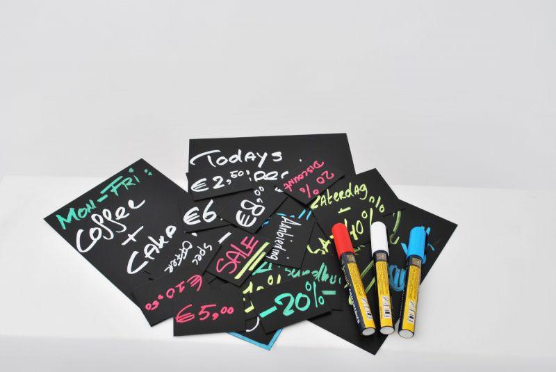20 Price Tags A8 + 1 White Chalkmarker
