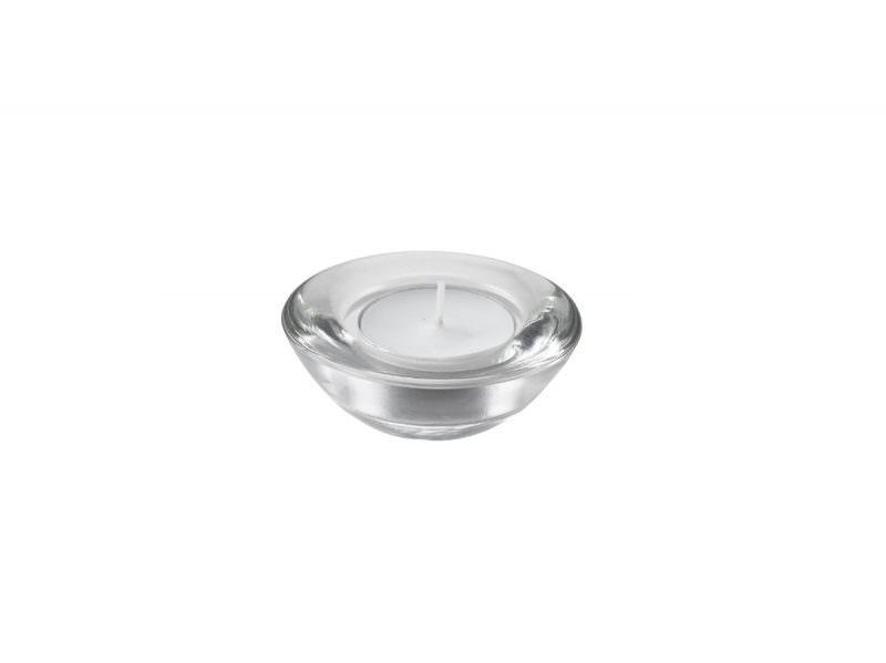 Genware Glass Round Tealight Holder 75mm Dia