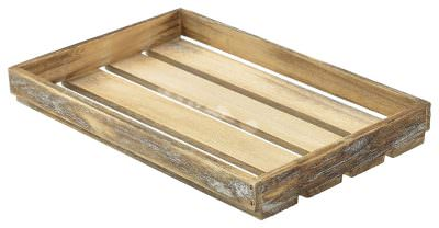 Wooden Crate Dark Rustic Finish 35 x 23 x 4cm