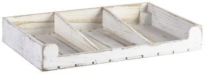 White Wash Wooden Display Crate