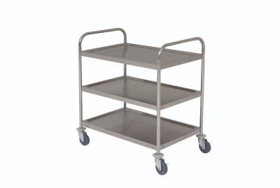 S/St. Trolley 85.5L X 53.5W X 93.3H 3 Shelves