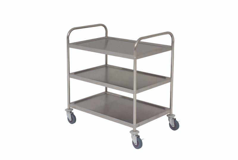 S/St. Trolley 85.5L X 53.5W X 93.3H 3 Shelves