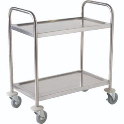Fully Welded S/St. Trolley - 2 Shelves