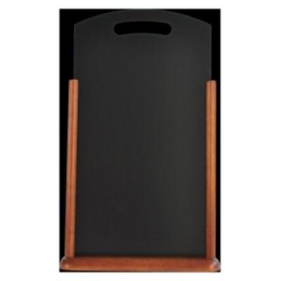 Large Table Chalk Board Dark Wood 21X45cm