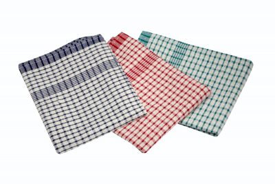 Cotton Check Ttowel 46X69cm 10Pcs Mix Colours