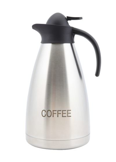 Coffee Inscribed St/St Contemporary Vac. Jug