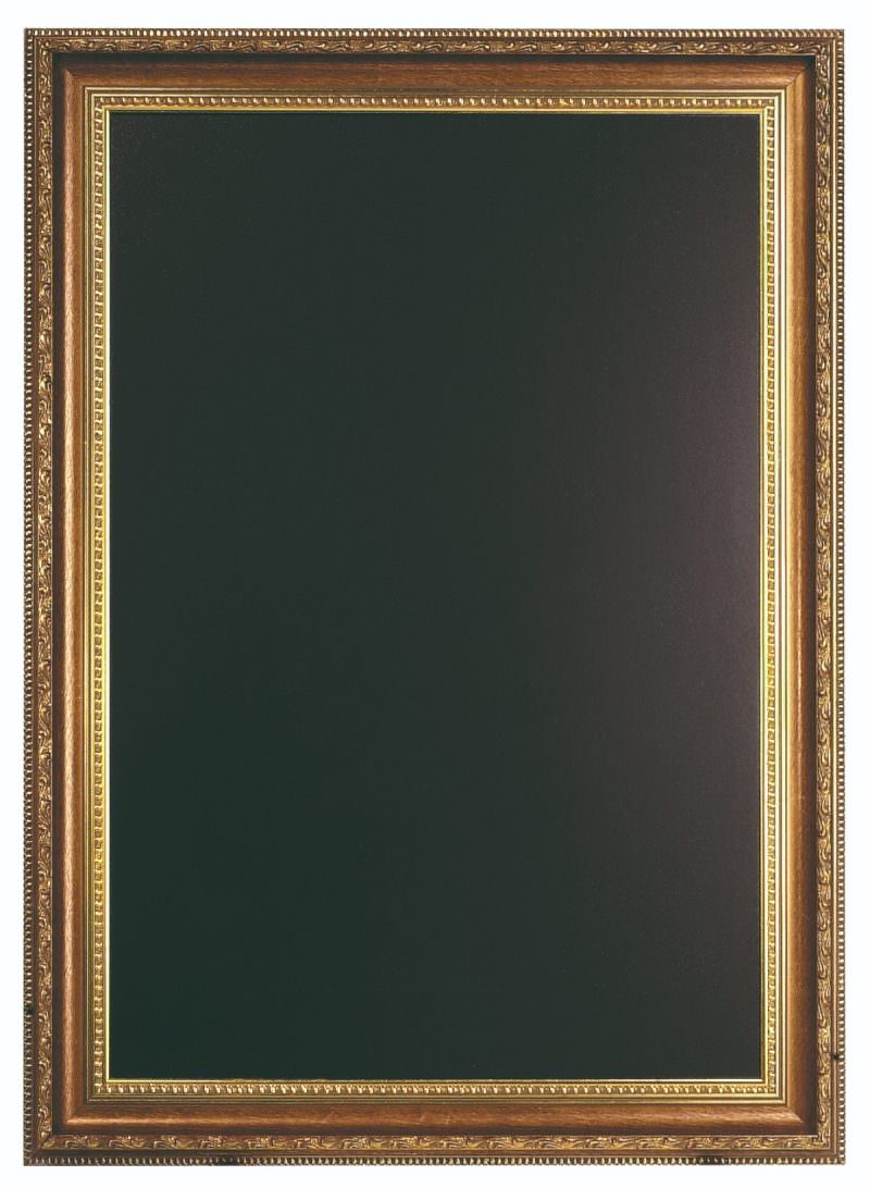 Gold Chalk Board 85 X 65cm