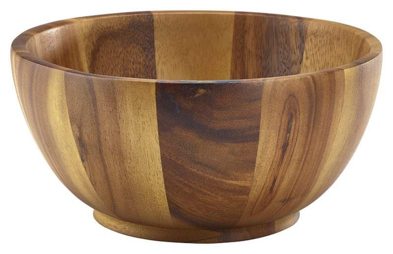 Acacia Wood Bowl 20Dia x 10cm
