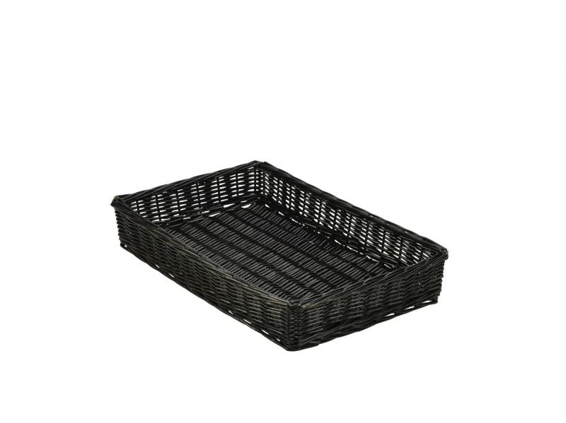 Wicker Display Basket Black 46X30X8cm