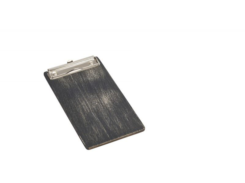 Black Wooden Menu Clipboard Wine List 13x24.5x0.6cm