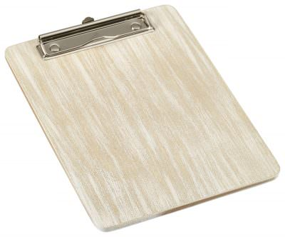 White Wash Wooden Menu Clipboard A5 18.5x24.5x0.6cm