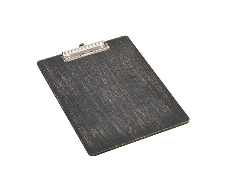 Black Wooden Menu Clipboard A4 24x32x0.6cm