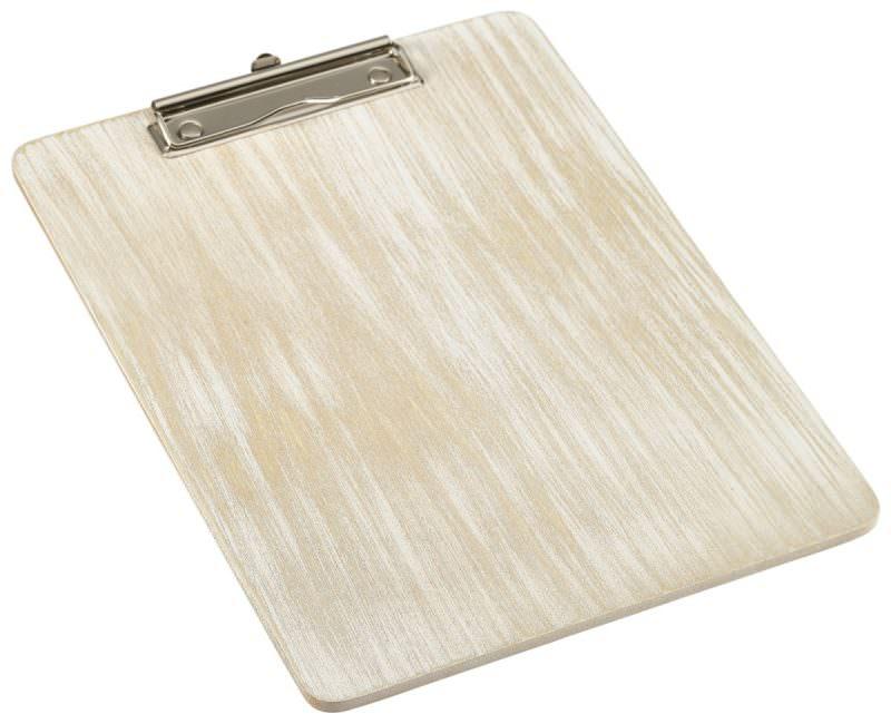 White Wash Wooden Menu Clipboard A4 24x32x0.6cm