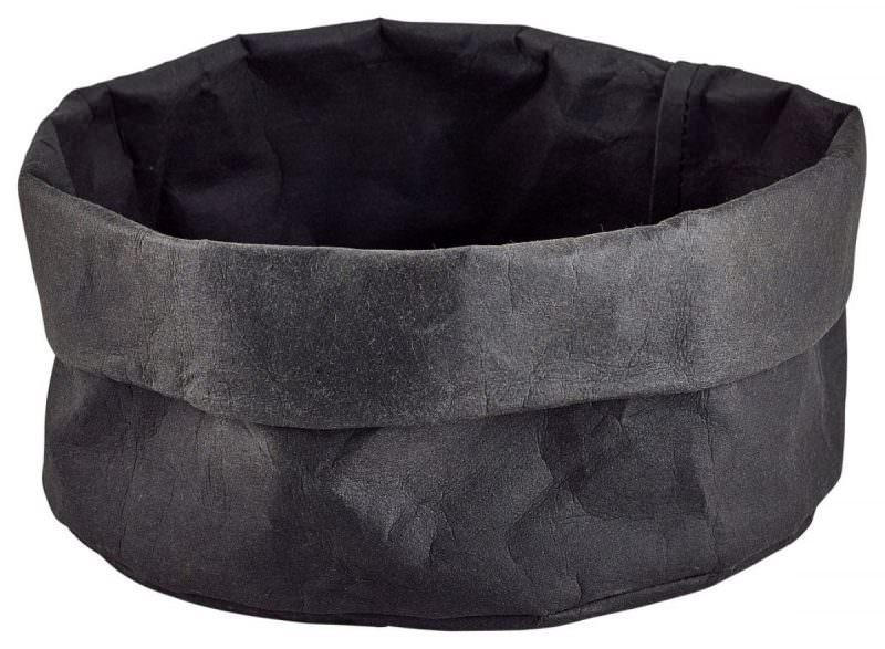 Black Washable Paper Bag 20Diax14cm(H)