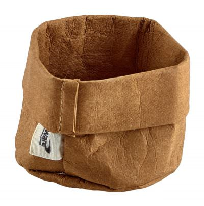 Brown Washable Paper Bag 7 Dia x 6cm (H)