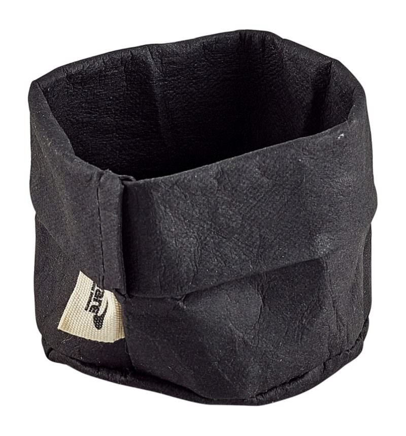 Black Washable Paper Bag 7 Dia x 6cm (H)