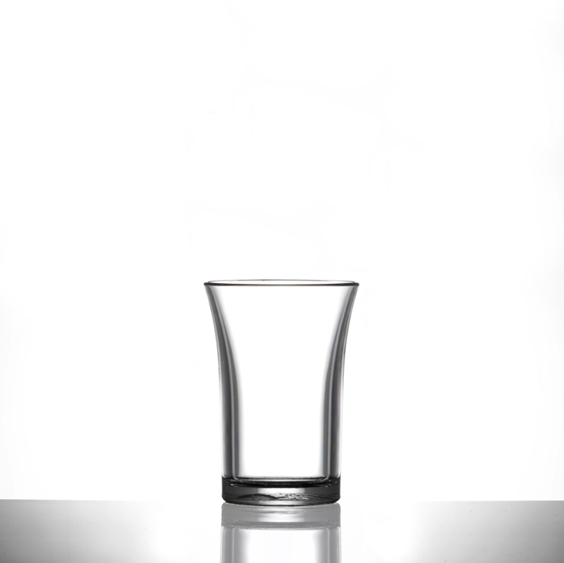 Econ Clear Polystyrene Plastic Shot Glass, 35ml - 100 Pack
