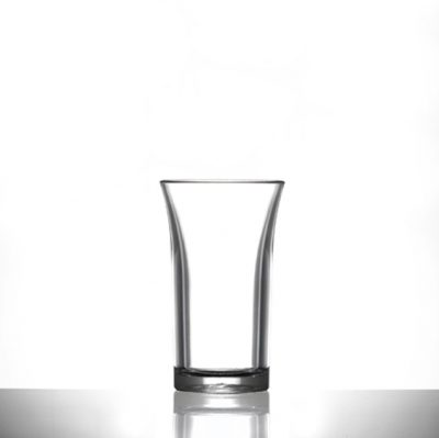 Econ Clear Polystyrene Plastic Shot Glass, 50ml, CE Marked - 100 Pack