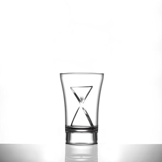 Twister Plastic Sip Clear Shot Glass, 30ml (15ml + 15ml) - 60 Pack