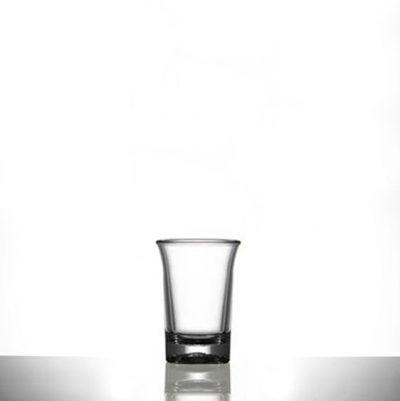 Plastic Shot Glasses - Premium Polycarbonate 25ml CE Shot - 24 Pack