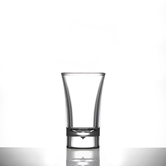 Econ Clear Polystyrene Plastic Shot Glass, 40ml -100 Pack