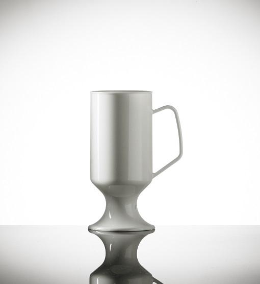 Elite Polycarbonate 8oz Coffee Cup, Black - 18 Pack