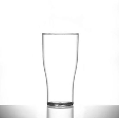 Elite Nonic Polycarbonate Pint / 20 oz Glasses - 100 Pack