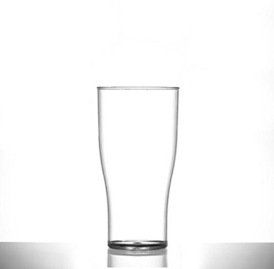 Polycarbonate Plastic Tulip Half Pint / 10 oz CE Glasses - 48 Pack