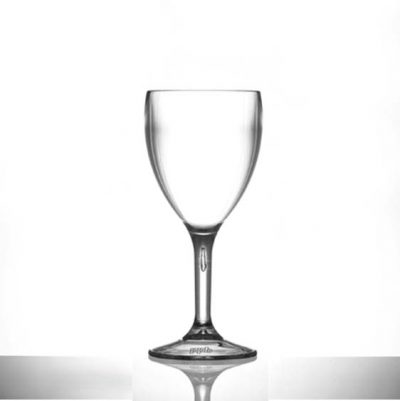 9oz Medium Plastic Reusable Wine Glasses - Polycarbonate - 12 Pack