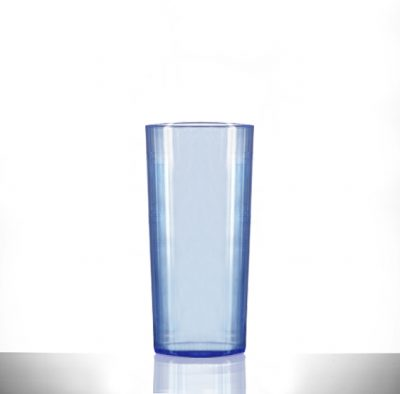 Elite Polycarbonate 10oz Neon Blue Hiball / Tumbler Glasses - 48 Pack