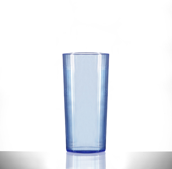 Elite Polycarbonate 10oz Neon Blue Hiball / Tumbler Glasses - 48 Pack