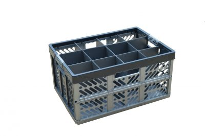 2. Folding Crate - Glassware Box, 12 cells