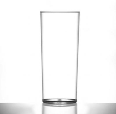 Elite Polycarbonate 12oz Hiball Glasses - Lined @ Half Pint - 48 Pack