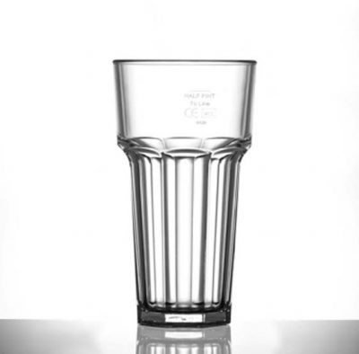 Elite Remedy Polycarbonate 12oz Tall Glasses, CE Marked - 36 Pack