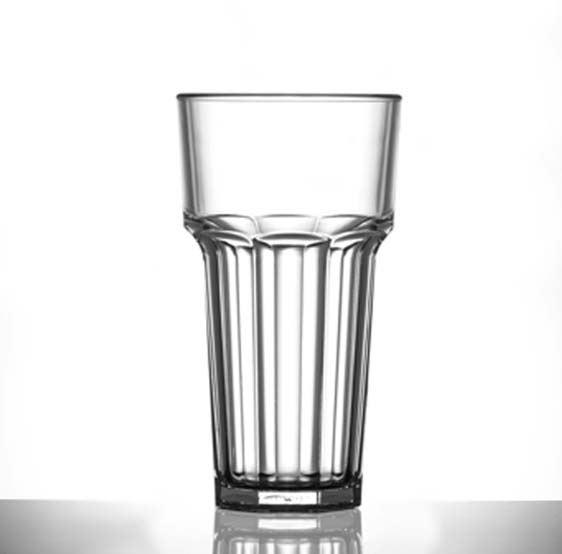 Elite Remedy Polycarbonate 12oz Tall Glasses, CE Marked, Lined @ Half Pint - 36 Pack
