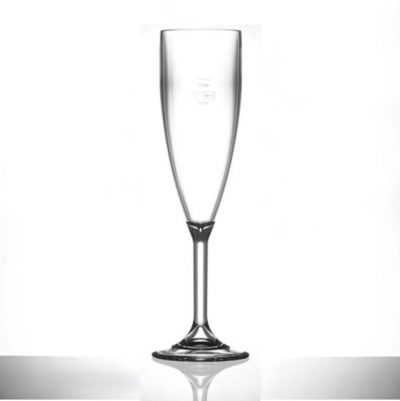 Lined @ 125ml Elite Premium Polycarbonate Champagne Flutes - 12 Pack